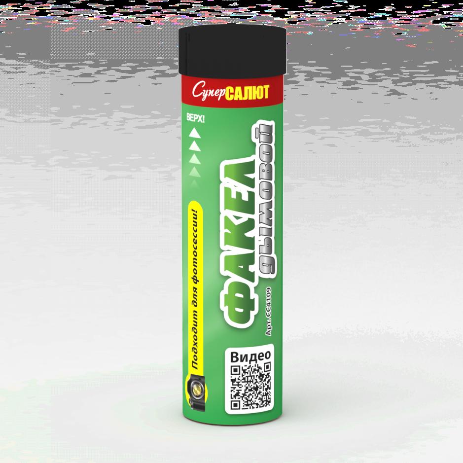 Факел дымовой (зеленый) Цена-300р.